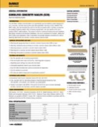 20V MAX* Cordless Concrete Nailer Tech Page
