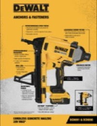 Cordless Concrete Nailing Systems Sell Sheet