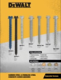 Concrete Screw Anchors Sell Sheet