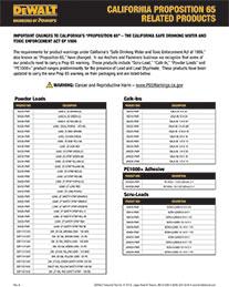 Prop 65 Tech Bulletin